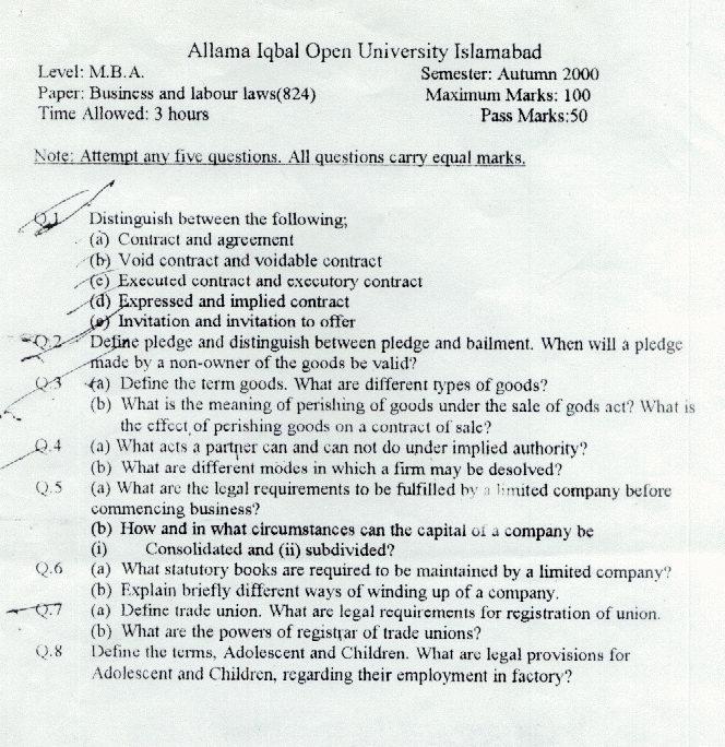 Employment law essays